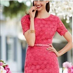 Talbots | Larosa Floral Lace Short Sl Midi Dress